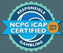 Responsible Gambling NCPG iCap Certified 2017 logo
